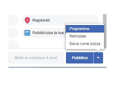 Come programmare i post di Facebook